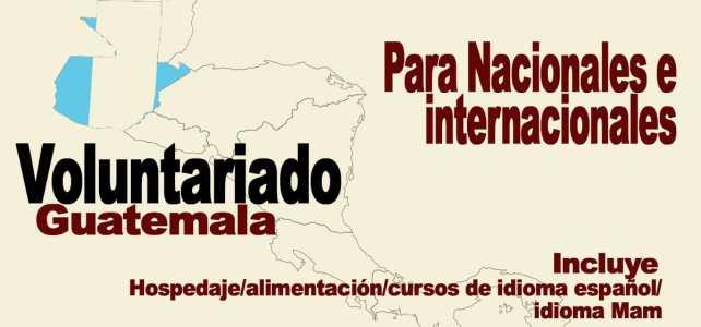 Voluntariado en Guatemala – para voluntarios nacionales e internacionales