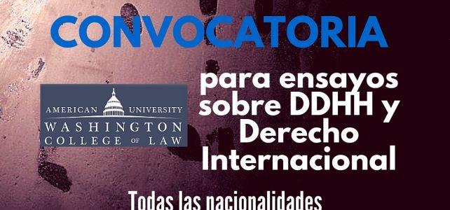 Convocatoria para ensayos sobre DDHH y Derecho Internacional