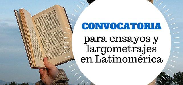 Convocatoria para concurso de ensayo y largometraje en América Latina