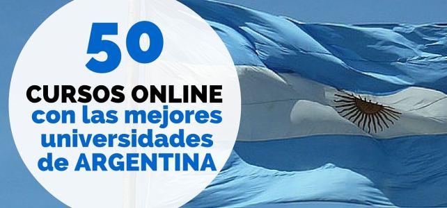 50 cursos online gratis con las mejores universidades de Argentina