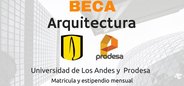 Becas para maestría en Arquitectura en Universidad de Los Andes (Colombia)