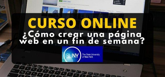 Curso online sobre cómo crear una página web en un fin de semana !