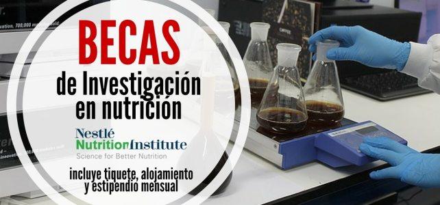 Becas de investigación con el Instituto de Nutrición Nestlé – Para investigadores de todo el mundo