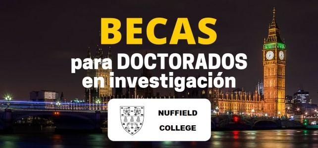 Becas de investigación en Reino Unido