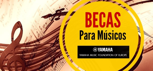 Becas de música con la popular marca Yamaha