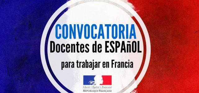 Convocatoria para profesores de español.  1000 vacantes en Francia