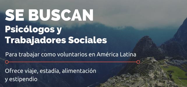 Se buscan Trabajadores sociales y psicólogos para voluntariados – todos los gastos cubiertos