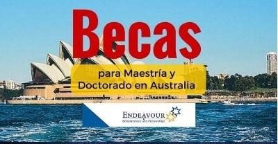 Becas completas Endeavour en Australia para latinoamericanos