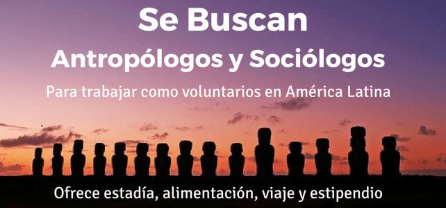 Se buscan antropólogos y sociólogos – últimos dias