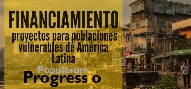 Convocatoria de financiamiento de proyectos de América Latina