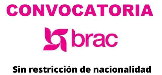 Convocatoria internacional con la organización internacional de progreso rural – Brac