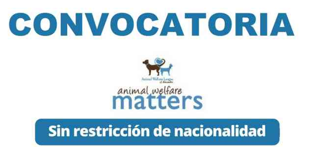 Convocatoria para trabajar con animales en Animal Welfare League