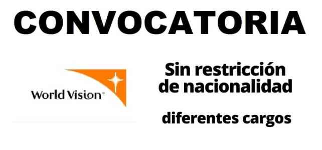 Convocatorias con World Vision
