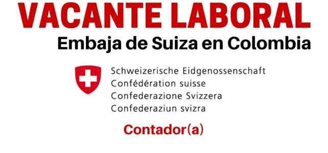 Vacante laboral con la Embajada de Suiza en Colombia