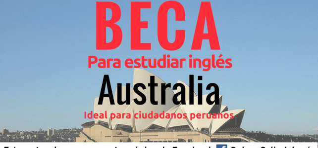 Beca para estudiar inglés en Australia