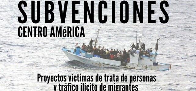 Convocatoria para subvenciones a proyectos víctimas de trata de personas y tráfico ilícito de migrantes