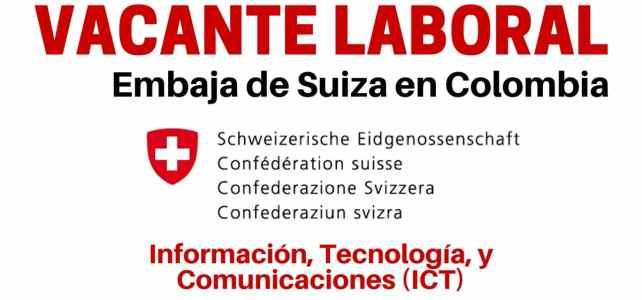 Convocatoria de la Embajada de Suiza en Colombia
