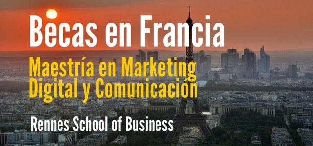 Becas para Maestría en Marketing Digital y Comunicación Francia