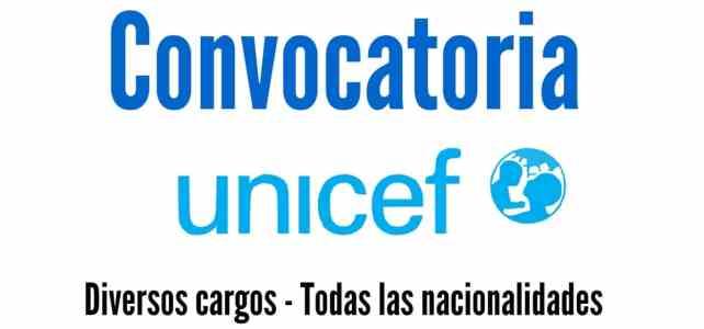 Convocatoria abierta para vincularse o realizar pasantías con Unicef