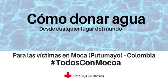 Cómo donar agua para la emergencia en Mocoa (Putumayo)