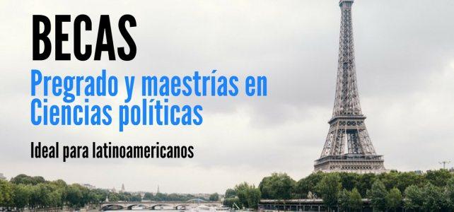 Becas para estudiar en Francia pregrado o maestría para Latinoamericanos