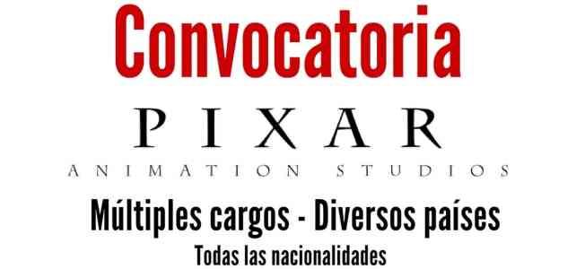 Convocatoria laboral internacional con Pixar