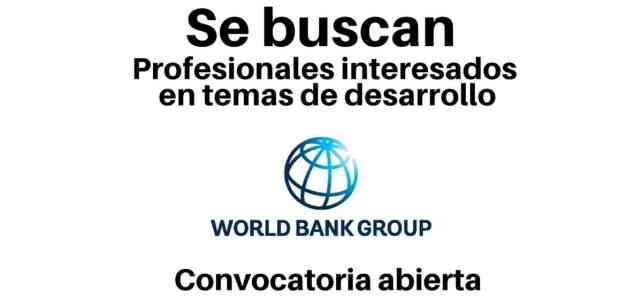 Convocatoria para jóvenes profesionales con el Banco Mundial