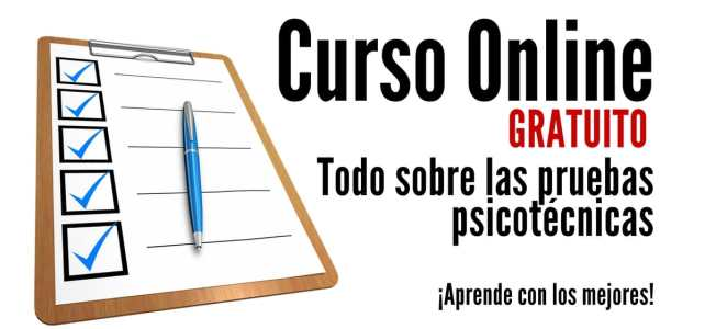 Aprender a desarrollar buenas pruebas psicotécnicas – Curso Online gratuito en Español