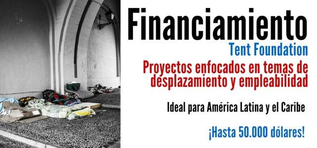 Convocatoria de financiamiento para proyectos que incentiven la integración social y empleo de personas desplazadas