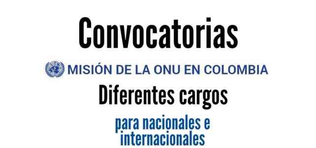 Misión de la ONU en Colombia abre convocatorias: Conoce las vacantes disponibles