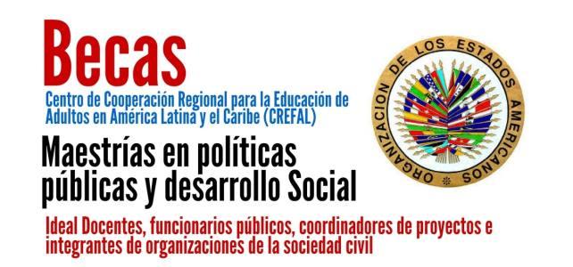 Becas de la OEA para maestrías en políticas públicas y desarrollo Social