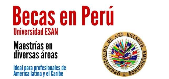 Becas completas de la OEA para cursar maestrías en Perú