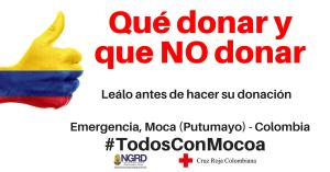 Donaciones Mocoa