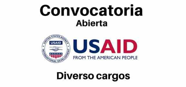 Nuevas oportunidades laborales con USAID en Colombia. Diversos cargos