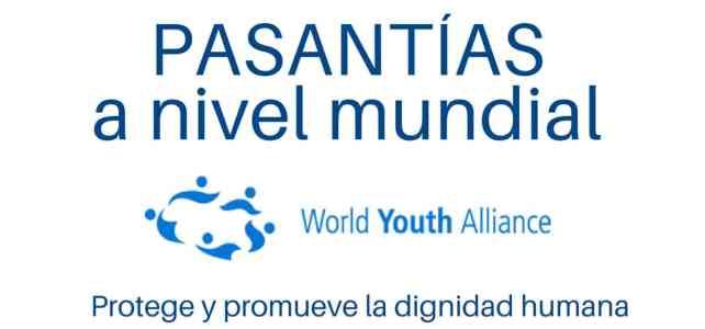 World Youth Alliance busca pasantes a nivel mundial: en Asia, África, Europa o Medio Oriente