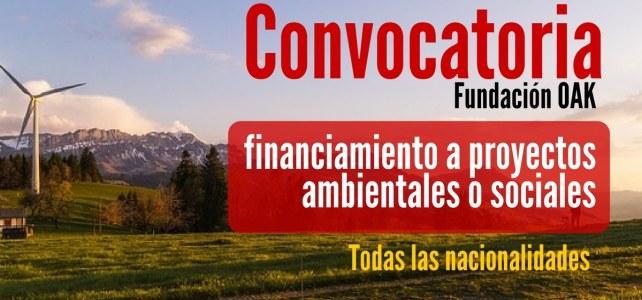 Convocatoria para financiar proyectos ambientales o sociales & género