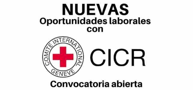 Oportunidades laborales con el CICR