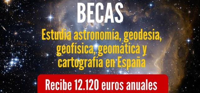 Becas para estudios en el Instituto Geográfico Nacional en España