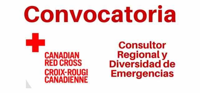 Convocatoria con la Cruz Roja Canadiense