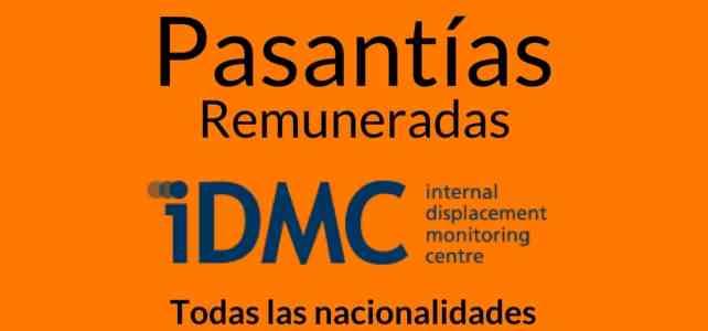 Pasantías remuneradas con el Centro de monitorio de desplazamiento interno