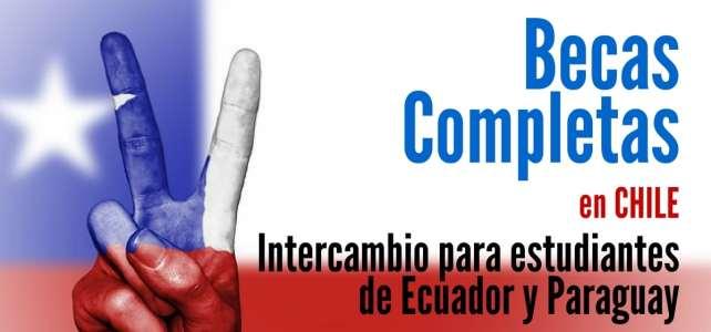 Becas completas para intercambio estudiantil en universidades chilenas