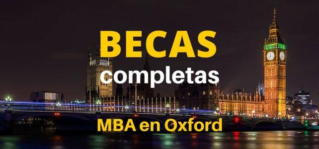 Becas completas para MBA en Oxford