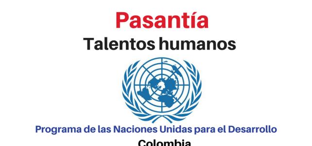 Pasantía de talentos humanos con Naciones Unidas
