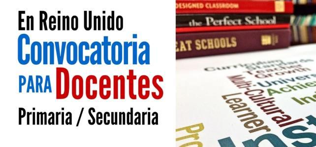 Convocatoria para docentes de primaria y secundaria. Todas las nacionalidades
