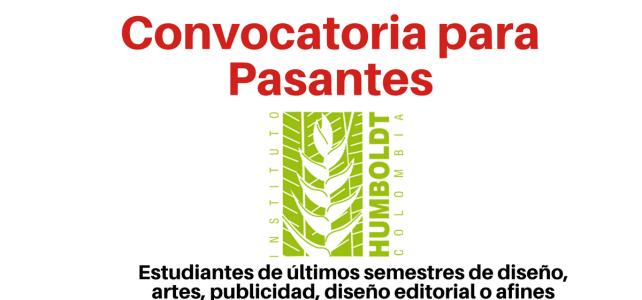 El Instituto Humboldt convoca estudiantes de últimos semestres !
