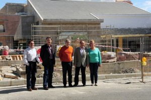 Visita del consejero insular de Cooperación Institucional a las obras del Centro Cultural de El Tablero