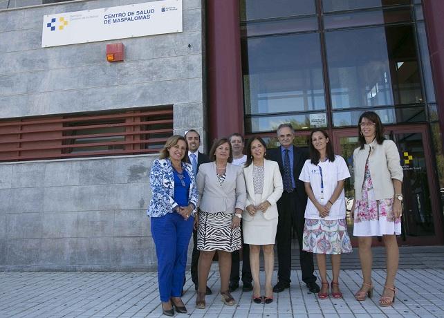 Brígida Mendoza visita el Centro de Salud de Maspalomas