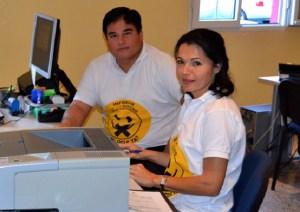 Isabel Santiago y Mencey Navarro, portavoces de Nueva Canarias y Ciuca de Mogán
