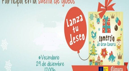 Fiesta infantil y suelta de globos de los deseos en la zona peatonal de Vecindario