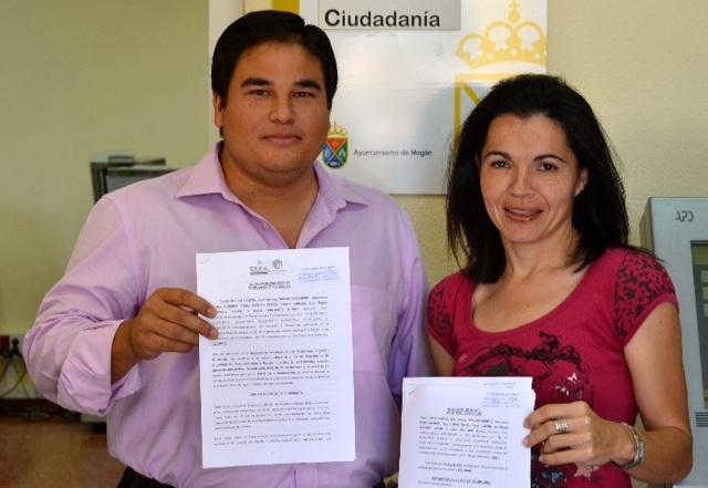 Mencey Navarro e Isabel Santiago, portavoces